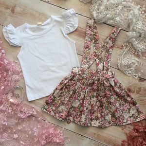 Other - Boutique Girls Top & Skirt Set